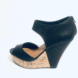 New Madden Girl black leather Wedges